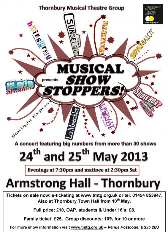 Musical Show Stoppers | Thornbury Musical Theatre Group