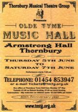 Olde Tyme Music Hall Poster